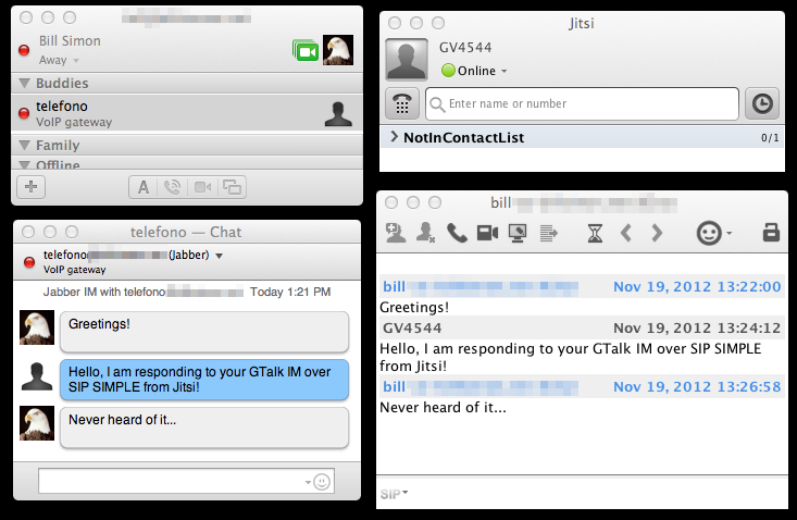 XMPP with iChat talking to SIP SIMPLE in Jitsi